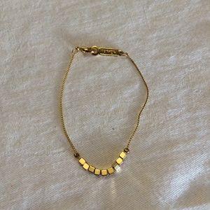 Vintage Gold Napier Squared Bracelet
